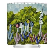Bird Metropolis Shower Curtain