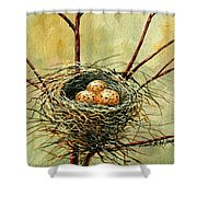 Bird Nest Shower Curtain