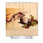 Bird On Branch Shower Curtain