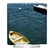 Bird Over Boat. Shower Curtain