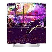 Bird Seagull Ave Beach Wings Sky  Shower Curtain