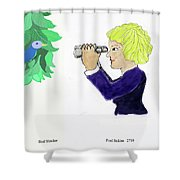Bird Watcher Shower Curtain