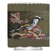 Bird White Eye Shower Curtain