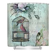 Birdcage Blossom Shower Curtain