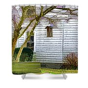Birdhouse 6 Shower Curtain