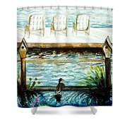 Birdhouse Haven Shower Curtain