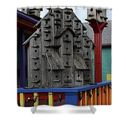 Birdhouses For Colorful Birds 4 Shower Curtain