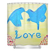 Birdie Love Shower Curtain
