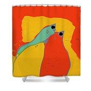 Birdies - Q11a Shower Curtain