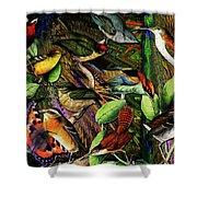 Birdland Shower Curtain by Joseph Mosley
