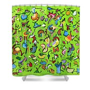Birds And Bugs Shower Curtain