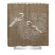 Birds And Burlap 2 Shower Curtain