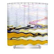 Birds And Beach Shower Curtain