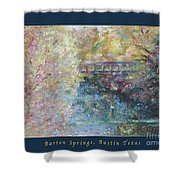 Birds Boaters And Bridges Of Barton Springs - Autumn Colors Pedestrian Bridge Greeting Card Poster Shower Curtain