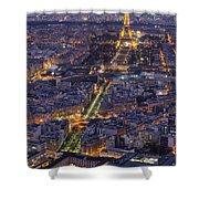 Bird's Eye On Paris 1 Shower Curtain