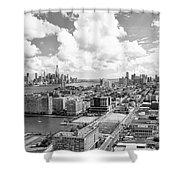 Bird's Eye View Hoboken Nj Shower Curtain