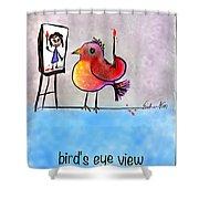 Birds Eye View Shower Curtain