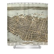 Birds Eye View Of Charleston Shower Curtain