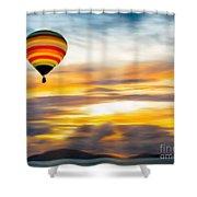 Birds Eye View Of Sunset Shower Curtain