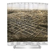 Birds Eye View Of The City Of Coldwater, Michigan - 1868 Shower Curtain