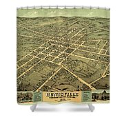 Bird's Eye View Of The City Of Huntsville, Madison County, Alabama 1871 Shower Curtain