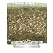 Bird's Eye View Of The City Of Raleigh, North Carolina 1872 Shower Curtain