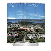 Birds Eye View Orlando Florida Shower Curtain