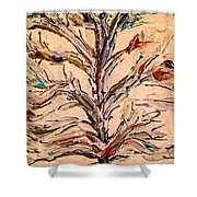 Birds In A Tree Shower Curtain