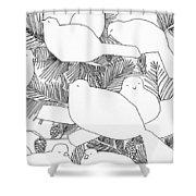 Birds In Pine Shower Curtain