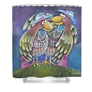 Birds Of A Feather Stick Together Shower Curtain