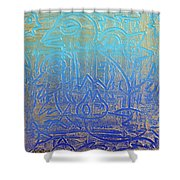 Birds Of Blue Shower Curtain