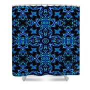 Birds Of Paradise Abstract Shower Curtain