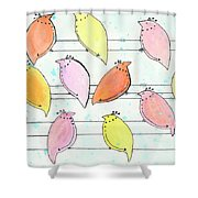Quail On A Wire Shower Curtain