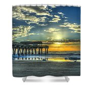 Birds On The Roof Sunrise Tybee Island Shower Curtain