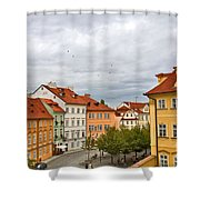 Birds Over Prague Shower Curtain