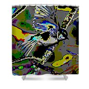Birds That Fly In Electric Skies Shower Curtain
