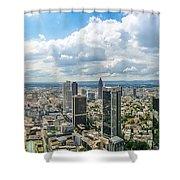 Birdview Of Frankfurt Am Main Shower Curtain