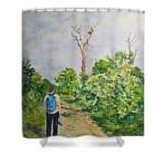 Birdwatching On Honeymoon Island Shower Curtain