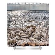 Birling Gap Waves Shower Curtain