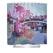 Birmingham Canal Watercolor Shower Curtain