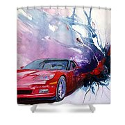 Birth Of A Corvette Shower Curtain