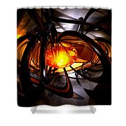 Birth Of A Sun Abstract Shower Curtain