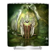 Birth Of A Swan Shower Curtain