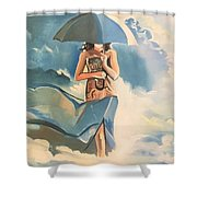 Birth Of Air And Water Shower Curtain