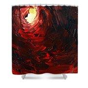 Birth Abstract Art Shower Curtain