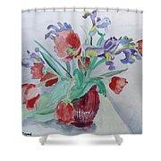 Birthday Bouquet Shower Curtain