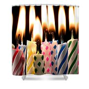 Birthday Candles Shower Curtain by Garry Gay