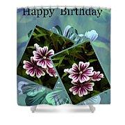 Birthday Card Shower Curtain
