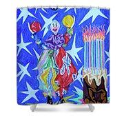 Birthday Clown Shower Curtain by Robert SORENSEN