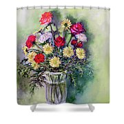 Birthday Flowers Shower Curtain